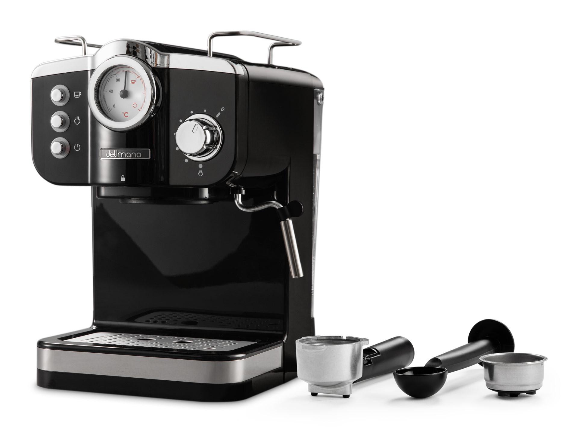 Aparat electric de facut cafea Delimano Espresso Deluxe Noir