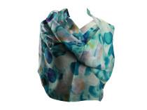 Шелковый платок с синим узором Oh La La