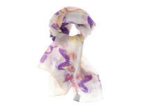 Шелковый платок, узор с фиолетовыми бабочками Oh La La