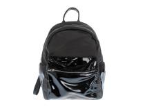 Черный рюкзак с глянцевым карманом Oh La La