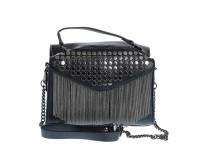 Черная сумка с металлическими элементами Oh La La