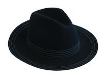 Классическая черная шляпа овальной формы Oh la la