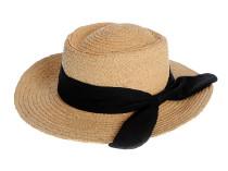 Пляжная шляпа, бежевая с черным элементом Oh La La