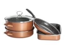 CopperLUX Набор кухонной посуды Stone Legend Grande Delimano