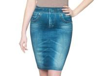 Slim 'N Lift Caresse Джинсовая юбка