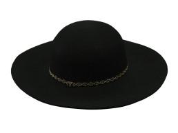 Классическая черная шляпа круглой формы Oh La La