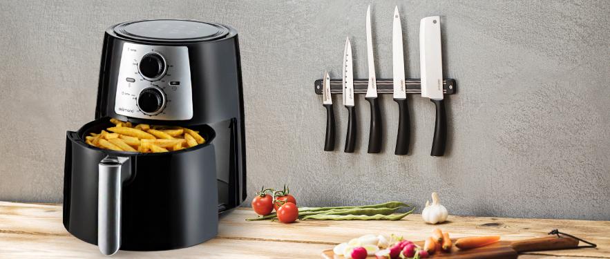 Набор из фритюрницы Air Fryer Pro и ножей Delimano