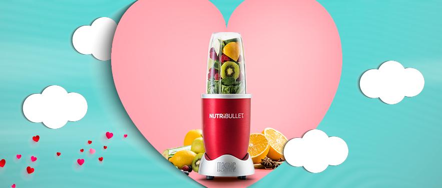 Экстрактор питательных веществ Nutribullet Красный - идеальный ПОДАРОК ко Дню Влюбленных!