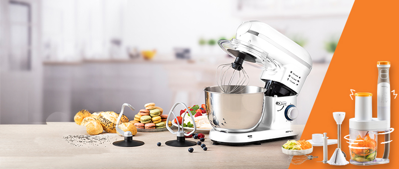 Кухонный робот-комбайн (Белый) Delimano